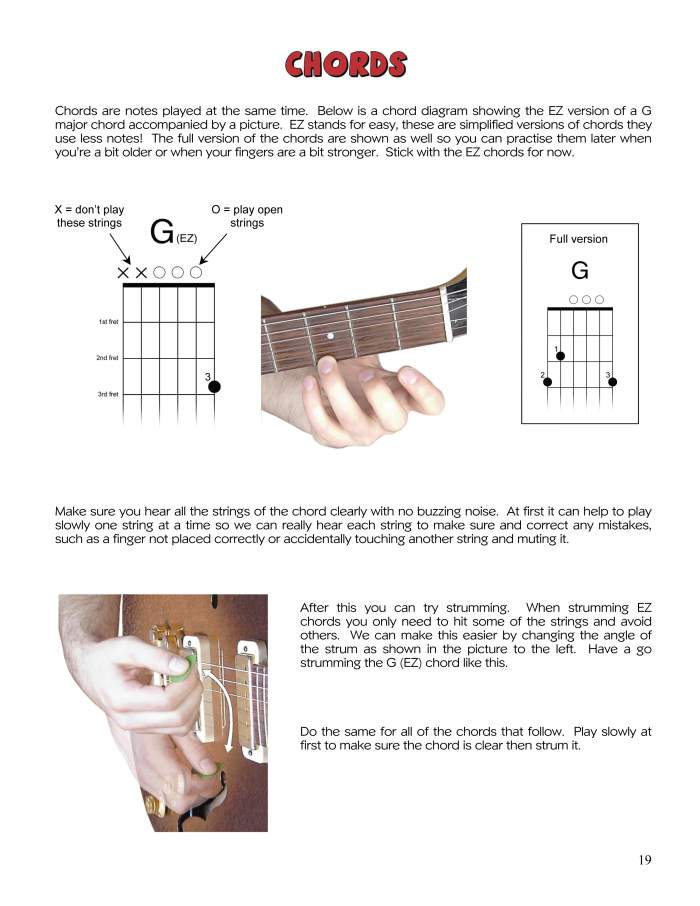 Guitar For Kids Easy Chords Buying Your First Guitar